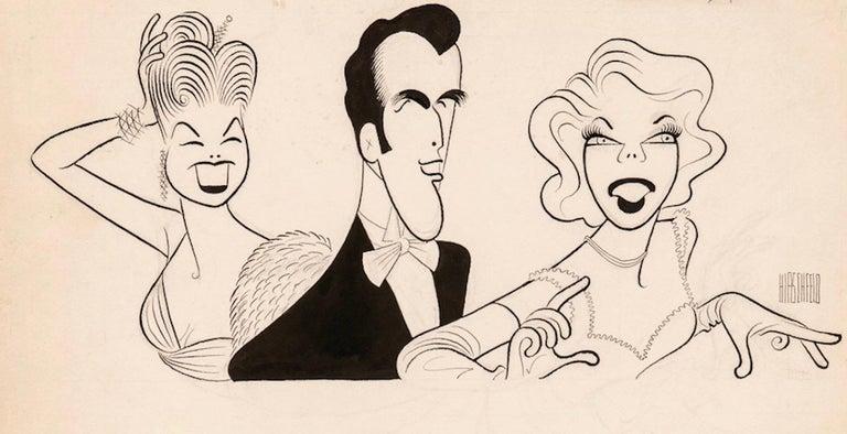 Albert Al Hirschfeld Portrait - Original TV Guide Illustration Caricature Esther Williams John Raitt Dinah Shore