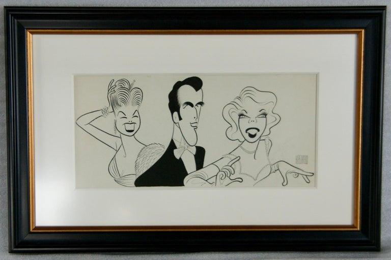 Original TV Guide Illustration Caricature Esther Williams John Raitt Dinah Shore - Art by Albert Al Hirschfeld