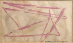 """Untitled Abstract,"" Franklin Van Court, Pink Modernist Watercolor"