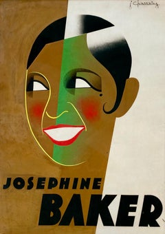 Original Gouache 1931, Design/Study for French Art Deco Poster, Josephine Baker