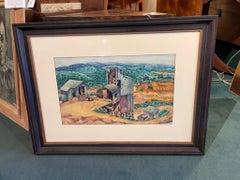 """Mining Loader"" American Modernism. Watercolor by John Jules Billington"