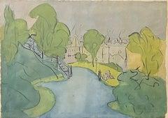 """""""Morningside Park, New York City,"""" Wood Gaylor, American Modernism Landscape"""