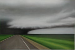 """""""Storm Road"""" Abstract Contemporary Art, Oil on Synthetic Canvas"""