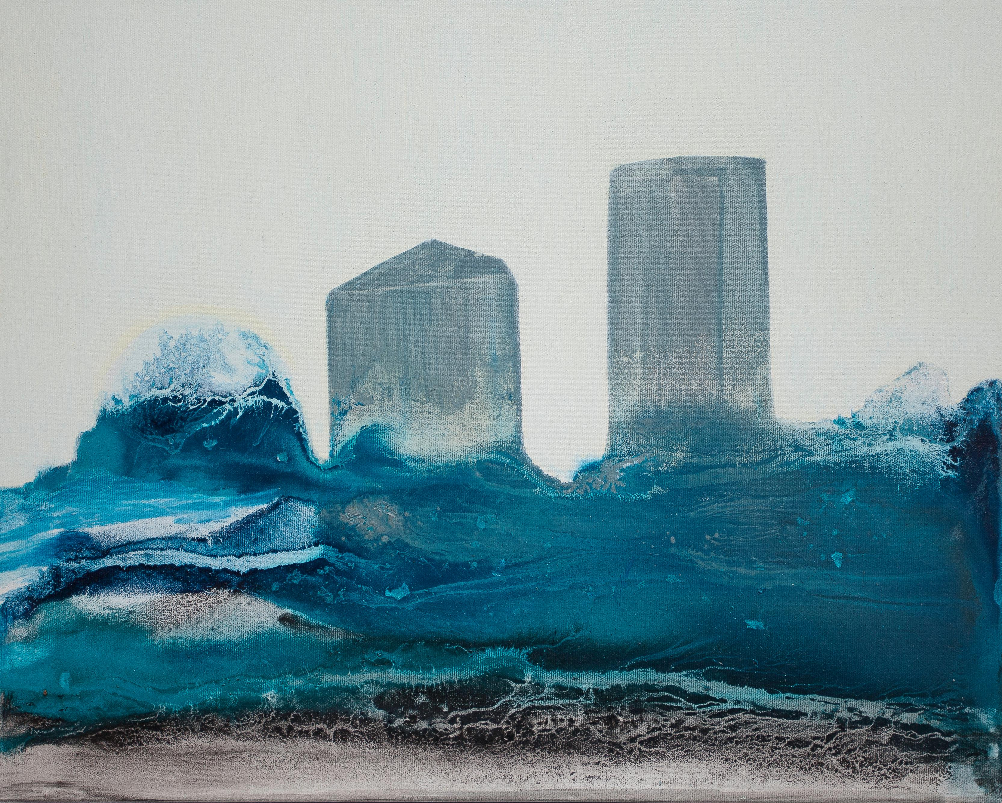 """""""Find Myself a City To Live In"""" Abstract Contemporary Art, Oil on Canvas"""