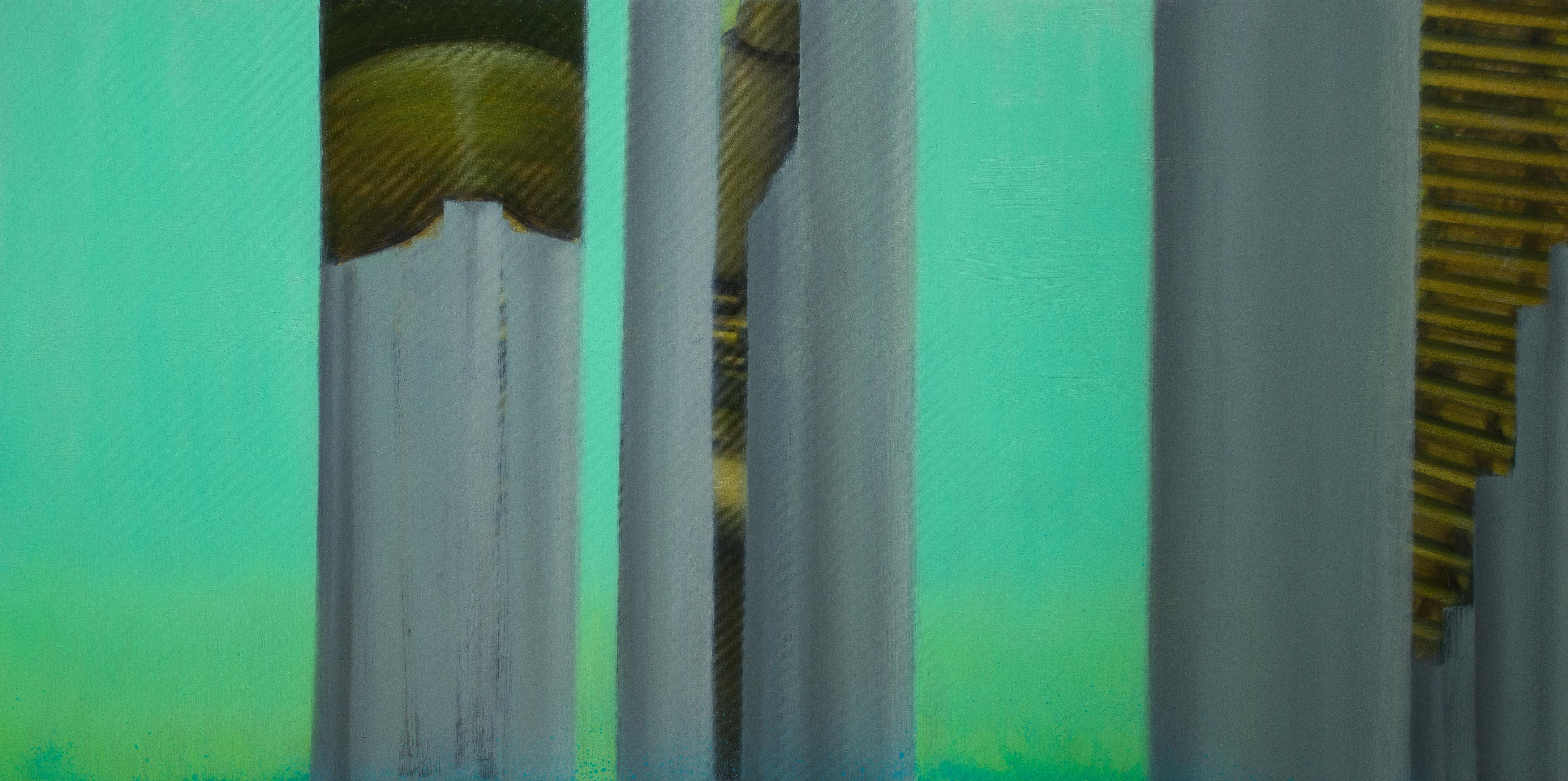 """""""Find Myself a City To Live In"""" Oil on Synthetic Canvas Abstract Contemporary"""