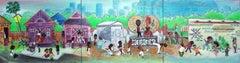 """Nsibidi's Story"" Mixed Media on 3 Wood Panels"