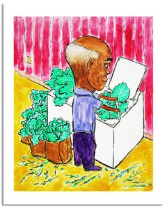 """""""Washing Greens"""" Signed Limited Edition Print"""
