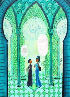 """Jihad Jihad Series: The African Princess"" Mixed Media on Canvas"