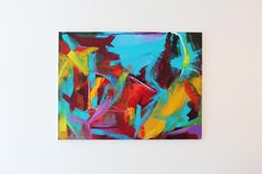 """Pandemonium"" - Acrylic and Oil Stick on Wood Panel"