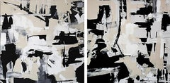 """Untitled Diptych""-Contemporary Abstract Art"