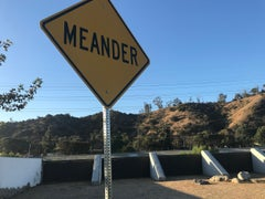 """Meander"" -  Contemporary Street Sign Sculpture"