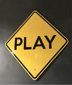"""Play"" - Contemporary Street Sign Sculpture"