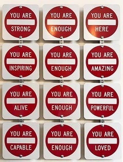 """You Are ...."" Contemporary Street Sign Sculpture"