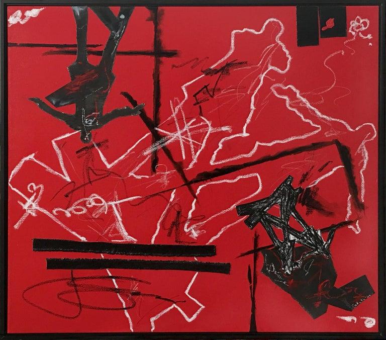 "Joan Scheibel Abstract Painting - ""Battlefield"" Contemporary Abstract Art"