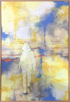 """Beach Walk"" Contemporary Abstract Art"
