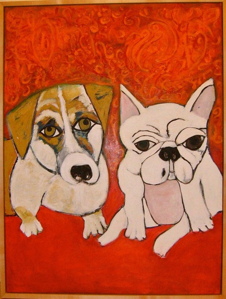 "Melinda McLeod  Animal Painting - ""Zuzu & Alice"""