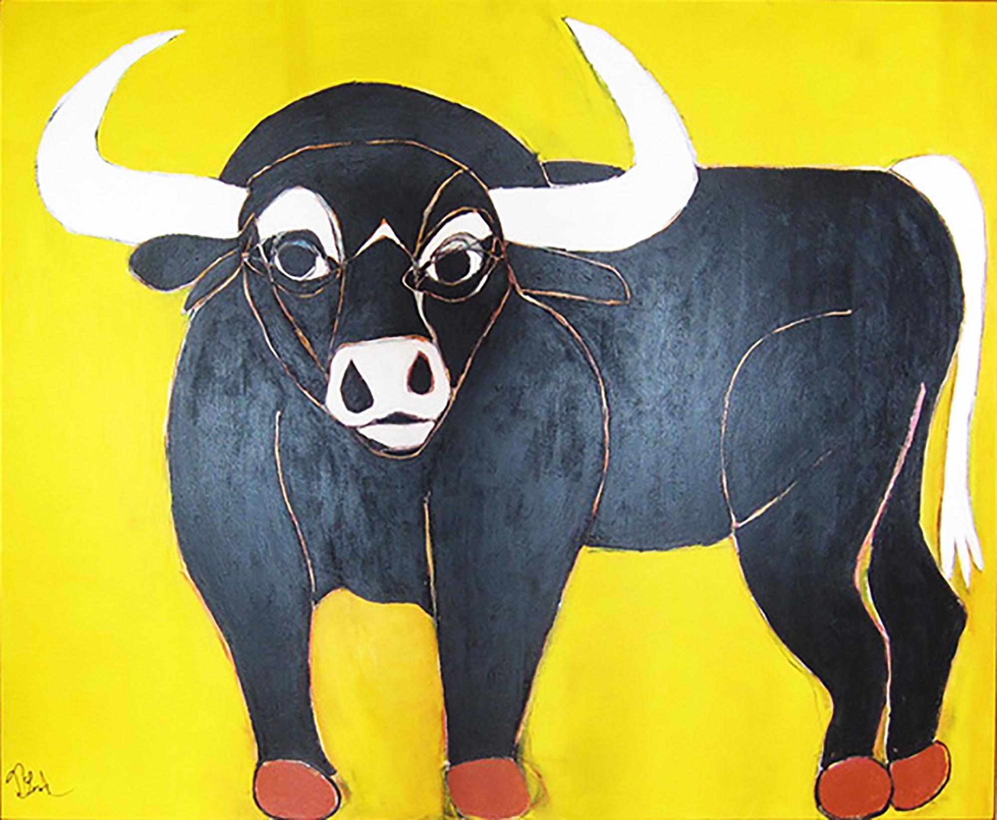 """Somerset the Black Bull"" - Acrylic on Canvas"