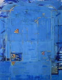 """""""House Inside Out 1"""" Abstract Contemporary Art, Collage on Wood Panel"""