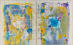 """""""Domestic Recipe #5"""" Diptych - Abstract Contemporary Art, on paper framed."""