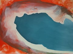 """""""Wave #3"""" Abstract Contemporary Art, Oil on Paper"""