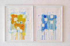 """""""Domestic Recipe #4"""" Abstract Contemporary Art, Acrylic on Paper, Framed."""