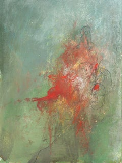 """""""Mysterium: Untitled #2"""" abstract art, mixed media on paper."""