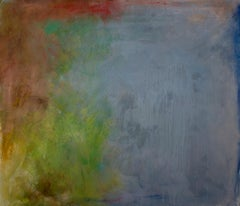 """""""Between Heaven and Earth: Untitled #5"""" abstract art, mixed media on canvas."""
