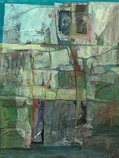 """""""Color and Light: West Hollywood"""" abstract painting, mixed media on canvas."""