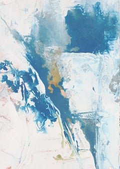 """""""Quencia: Untitled #20 """" abstract art, oil on paper, framed."""