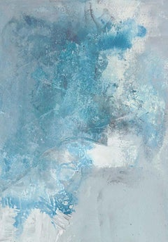 """""""Quencia: Untitled #21 """" abstract art, oil on paper, framed."""