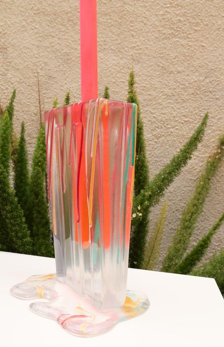 Splatter Clear Popsicle - Original Resin Sculpture  For Sale 1