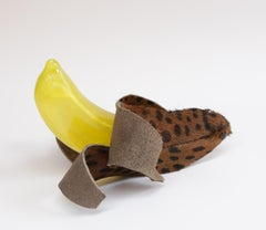 Leopard Banana - Original Resin Sculpture