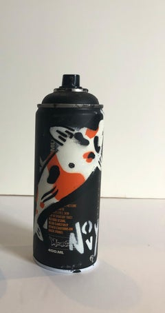 """Koi Spray Can""-Spray Paint on Black Montana Spray Can"