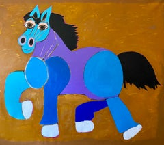 """""""Disfruto the Horse"""" Acrylic Painting on Canvas"""