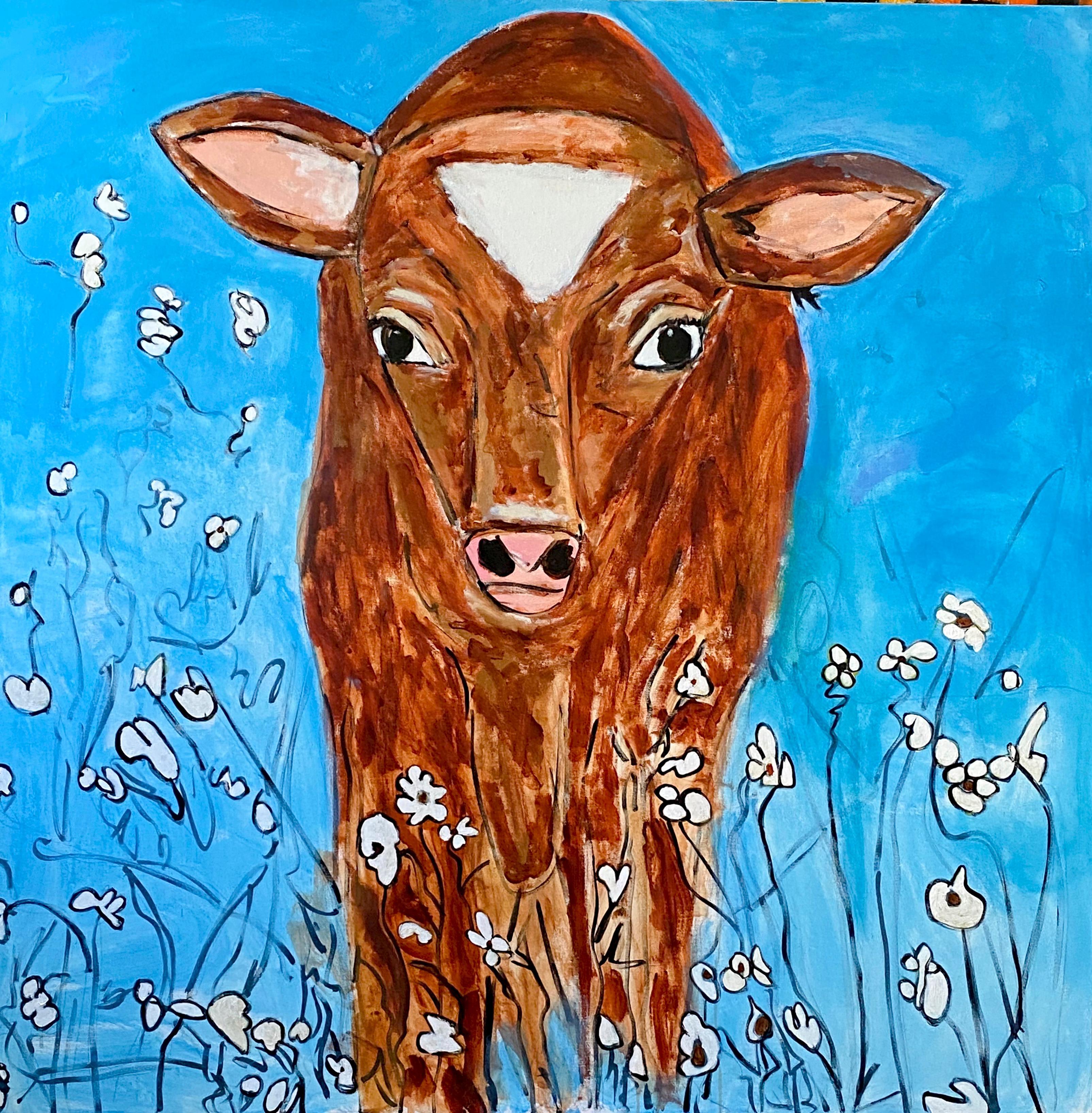 """Becerro"" Acrylic Painting on Canvas"