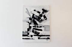 """""""Black and White 3"""" - Contemporary Abstract Art Acrylic on Canvas"""