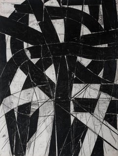 """""""Urban Interstitial Abstraction #9"""" – Charcoal and Pastel on Paper - Unframed"""