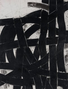 """""""Urban Interstitial Abstraction #7"""" – Charcoal and Pastel on Paper - Unframed"""