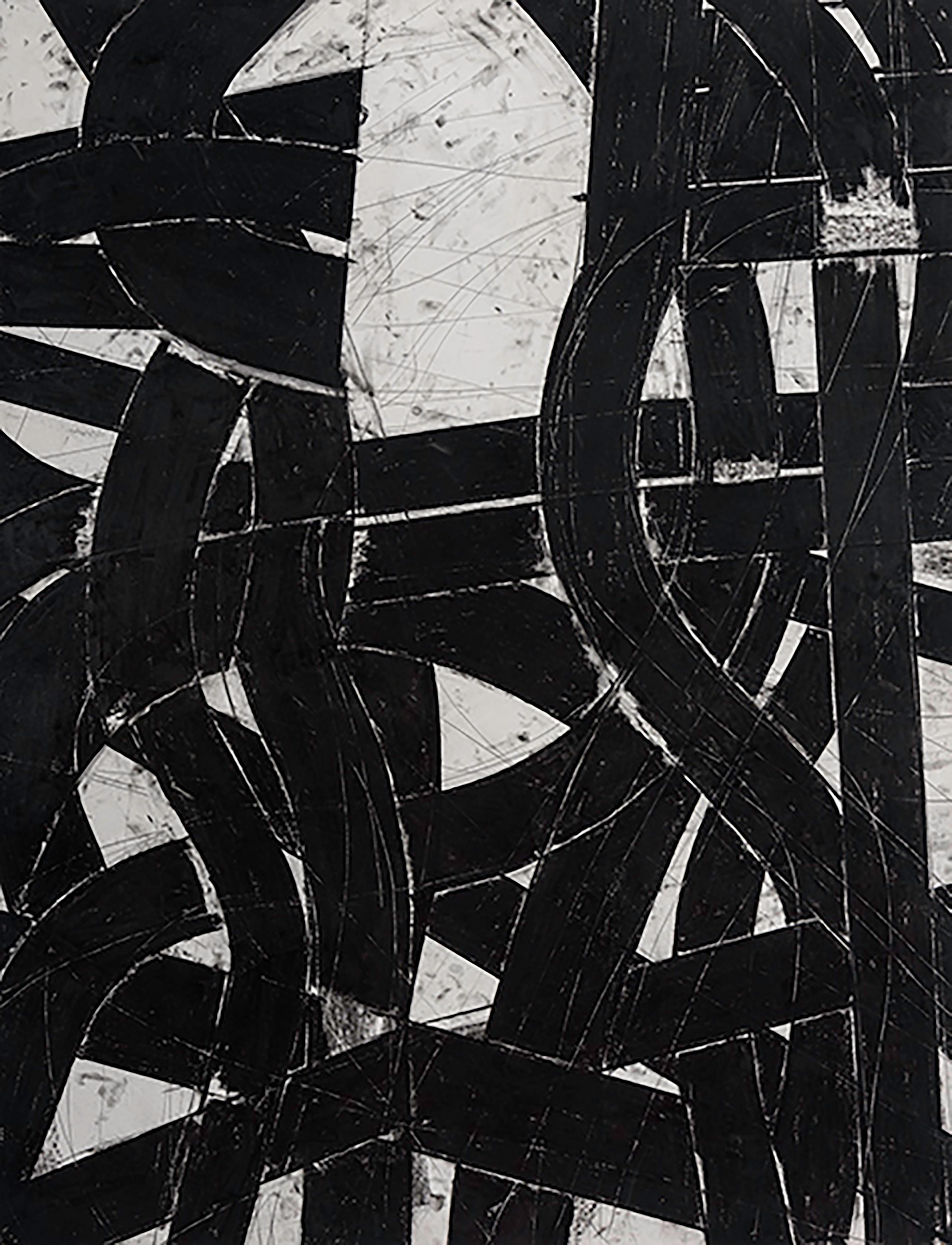 """""""Urban Interstitial Abstraction #11"""" – Charcoal and Pastel on Paper - Unframed"""