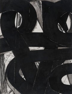 """""""Urban Interstitial Abstraction #4"""" – Charcoal and Pastel on Paper -Unframed"""