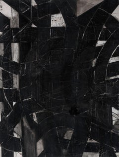 """""""Urban Interstitial Abstraction #6"""" – Charcoal and Pastel on Paper - Unframed"""