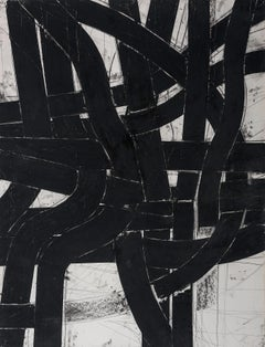 """""""Urban Interstitial Abstraction #5"""" – Charcoal and Pastel on Paper Unframed 2019"""