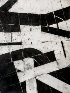"""""""Urban Interstitial Abstraction #1"""" – Charcoal and Pastel on Paper"""