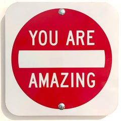 """You Are Amazing"" - Contemporary Street Sign Sculpture"
