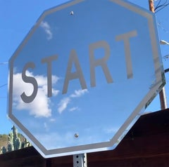 """Start""- Polished Stainless Steel Limited Edition 25 Street Sign"