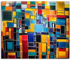 """""""City Structure #9"""" - Oil on Canvas"""
