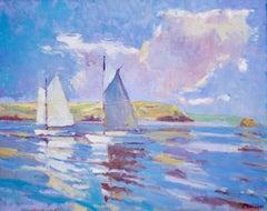 Clouds over Gerrans Bay- Seascape, Landscape, Contemporary, Impressionist