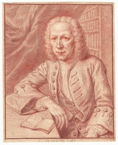 18thC Old Master Drawing by Jan Maurits Quinkhard: Portrait of J. Haverkamp