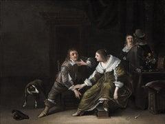 17th Century Dutch Old Master Painting by Anthonie Palamedesz Genre Scene