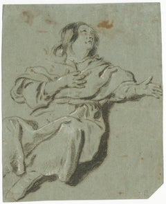 17th Century Dutch Old Master Drawing by Govert Flinck Pupil of Rembrandt